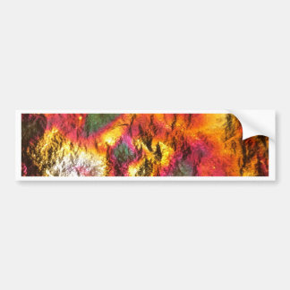 Vintage Abstract Multi-Layer Bumper Sticker