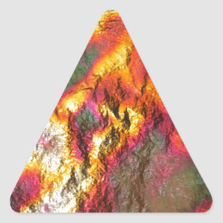 Vintage Abstract Multi-Layer Triangle Sticker