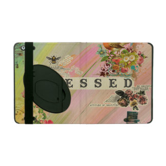 Vintage abstract painting floral steam punk shabby iPad cases