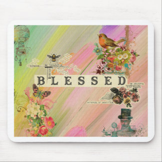 Vintage abstract painting floral steam punk shabby mousepads