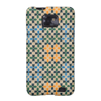 Vintage Abstract Quilt Inspired Tile Fabric Galaxy S2 Cases