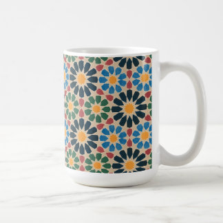 Vintage Abstract Quilt Inspired Tile Fabric Coffee Mug