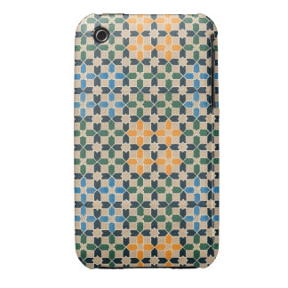 Vintage Abstract Quilt Inspired Tile Fabric iPhone 3 Covers