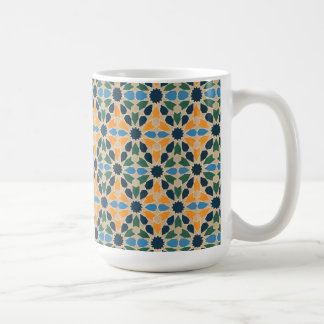 Vintage Abstract Quilt Inspired Tile Fabric Coffee Mugs