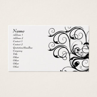 Vintage Abstract Template Card - Customized