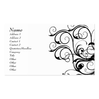 Vintage Abstract Template Card - Customized Business Card
