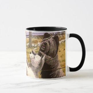Vintage Abstract Terriers Ceramic Mug