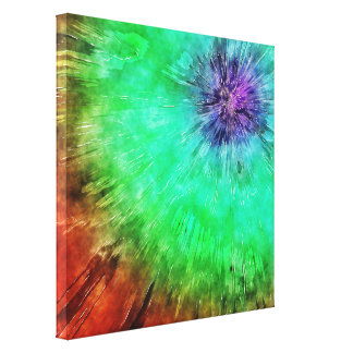 Vintage Abstract Tie Dye Stretched Canvas Print