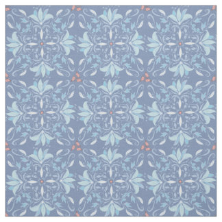 Vintage abstract wedding floral pattern fabric