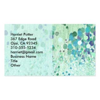 Vintage abstracto de la multa del papel pintado tarjetas de visita