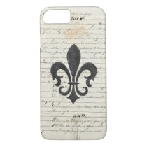 Vintage Accents French Ephemera Fleur De Lis iPhone 7 Case