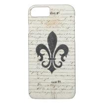 Vintage Accents French Ephemera Fleur De Lis iPhone 8/7 Case