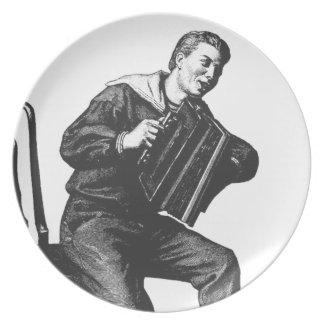 Vintage accordion art plate