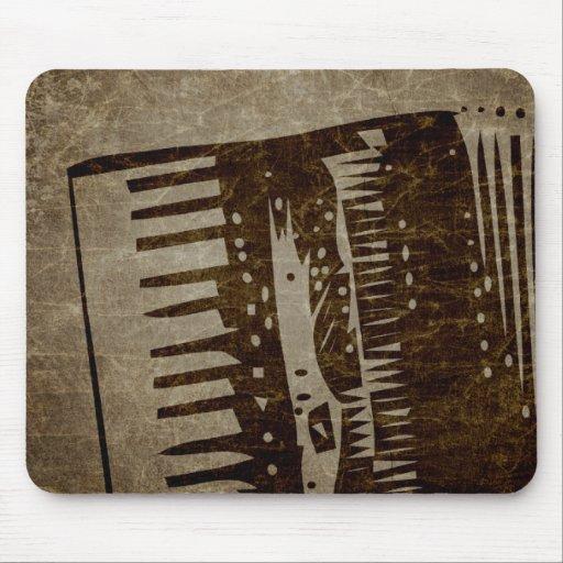 vintage accordion mouse pad