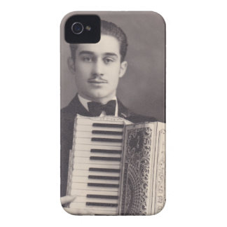 Vintage Accordion Player iPhone 4 Cover