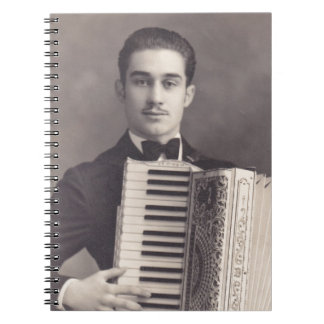 Vintage Accordion Player Notebook