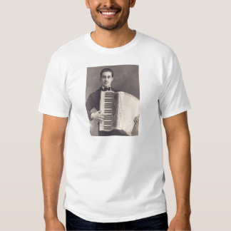 Vintage Accordion Player T Shirt