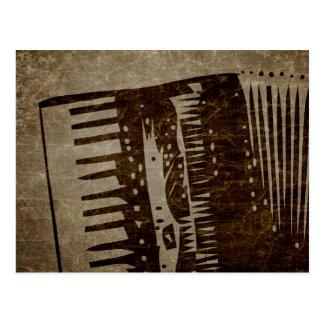 vintage accordion postcard