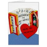 Vintage Accordion Valentine's Day Card