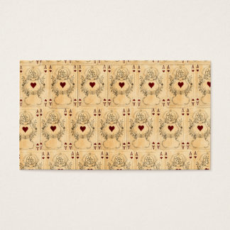 Vintage Ace Hearts Playing Cards Collage