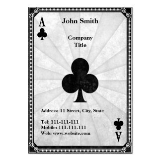 Vintage Ace of Clubs Large Business Cards (Pack Of 100)