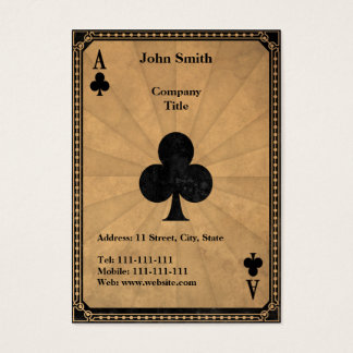 Vintage Ace of Clubs Business Card