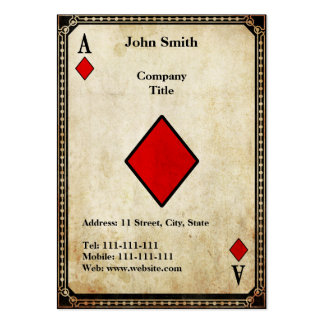 Vintage Ace of Diamonds Large Business Cards (Pack Of 100)