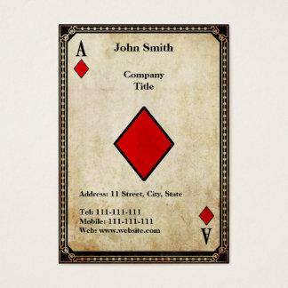 Vintage Ace of Diamonds Business Card