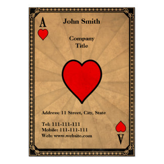 Vintage Ace of Hearts Large Business Cards (Pack Of 100)