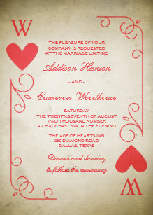 red heart wedding invitations zazzle