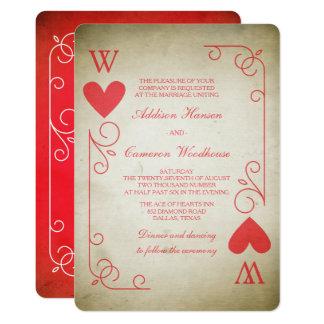 Vintage Ace of Hearts Wedding Invitation