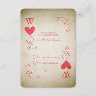 Vintage Ace of Hearts Wedding RSVP
