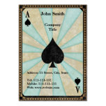 Vintage Ace of Spades Large Business Cards (Pack Of 100)