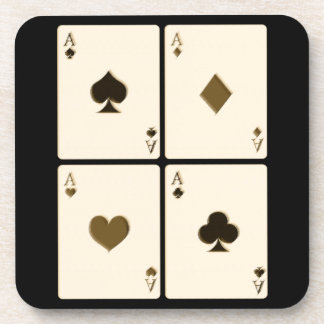 Vintage Ace Playing Cards Coaster