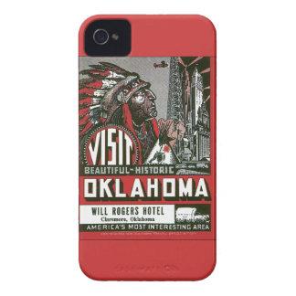 Vintage ACEPTABLE de Oklahoma los E.E.U.U. de la v iPhone 4 Cobertura