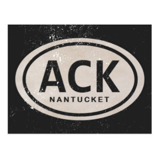 Vintage ACK Nantucket MA Beach Tag Postcard