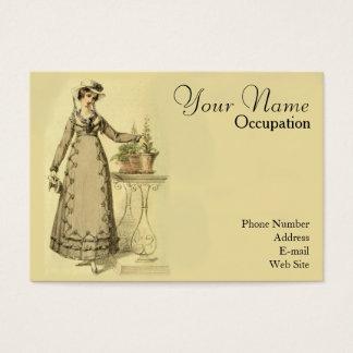 Vintage Ackermann Fashion Woman with Plants Business Card
