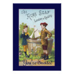 Vintage Acme Soap Ad Invitation