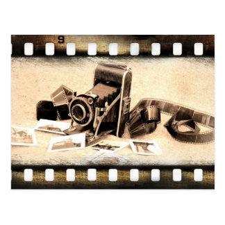 Vintage acordeón-estilo cámara de plegamiento tarjeta postal