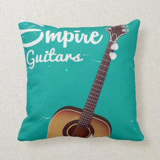 Vintage acoustic guitar commercial throw pillow