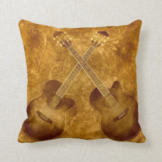 Vintage Acoustic Guitars Pillow