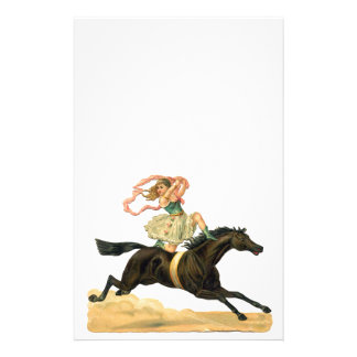 Vintage acrobat girl on a horse  papeleria