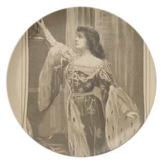 Vintage Actress Dinner Plate