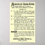 """Vintage-ad ARBUCKLES' ARIOSA COFFEE"" Posters"