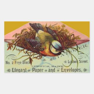 Vintage Ad Bird in Envelope Stickers