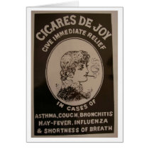 Vintage Ad - Cigares de Joy, Card