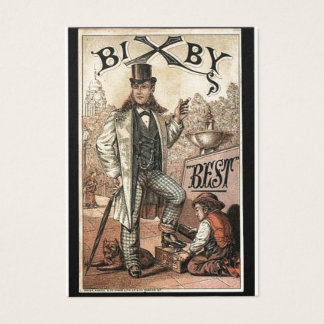 Vintage ad for Bixby Shoe Shine Business Card