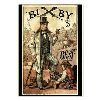Vintage ad for Bixby Shoe Shine Business Cards