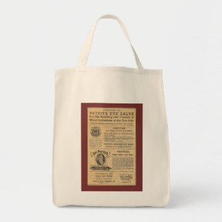 Vintage Ad for Dr Petit's Salve Grocery Tote Tote Bag