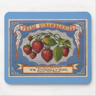Vintage Ad for Fresh Strawberries circa 1868 Mouse Pad